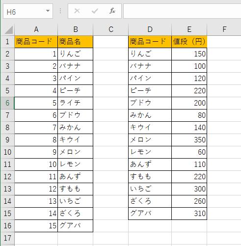 EXACT関数の例題