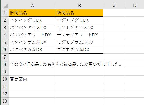 SUBSTITUTEB関数の練習問題