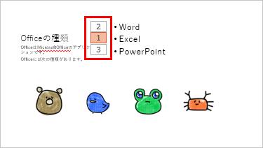 アニメーションの順番が変更された画像