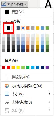 図形の枠線の色を変える画像